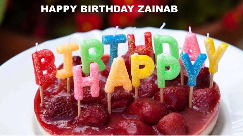 Birthday Cake Images With Name Zainab Cakes Happy Birthday Zainab Youtube