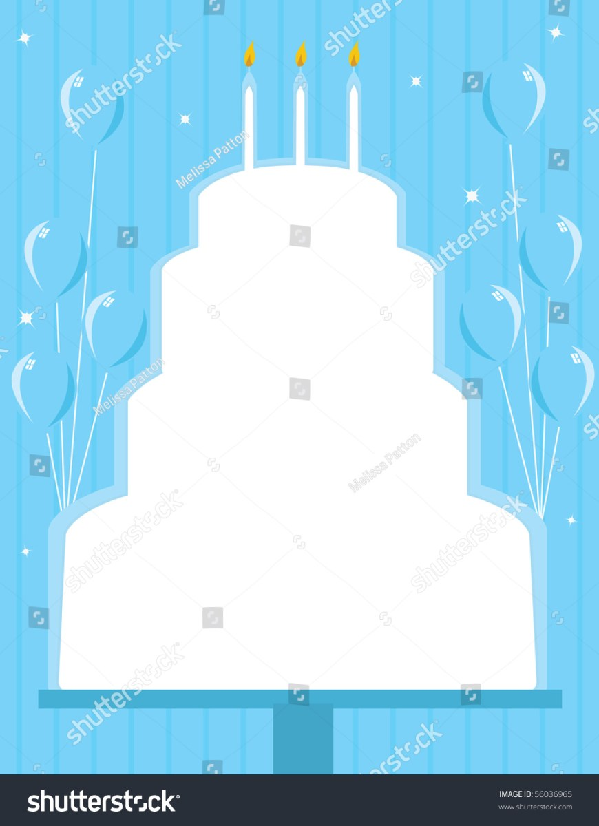 Birthday Cake Photo Frame Birthday Cake Frame Background Vector Stock Vector Royalty Free
