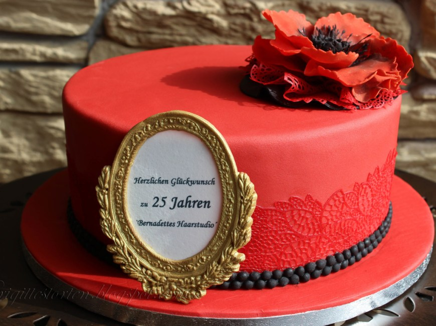 Birthday Cake Photo Frame Birthdaycake Red Black And Gold Frame Cakecentral