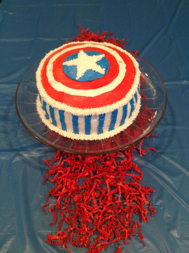 Birthday Cakes For 10 Year Olds Awesome Old Boys Cakecaptain America Cake