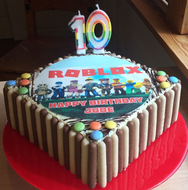 Birthday Cakes For 10 Year Olds Roblox Cake My Old Son