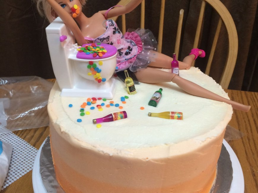 Birthday Cakes For Adults Adult Barbie Cake Cakecentral