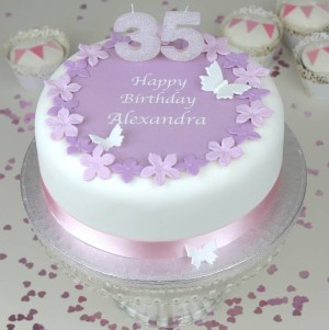 Birthday Cakes With Flowers Personalised Birthday Cake Topper Decorating Kit Clever Little