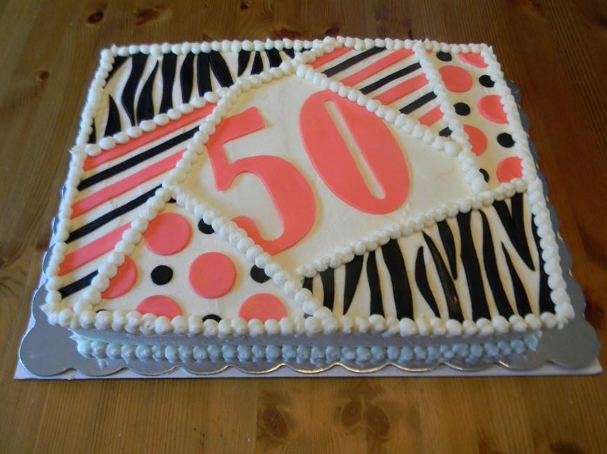 Birthday Sheet Cakes Sweet Treats Bonnie 50th Birthday Sheet Cake