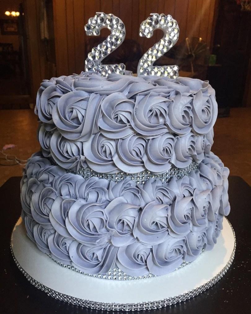 Bling Birthday Cakes 22nd Birthday Bling Cake My Cakes Pinterest Birthday Cake