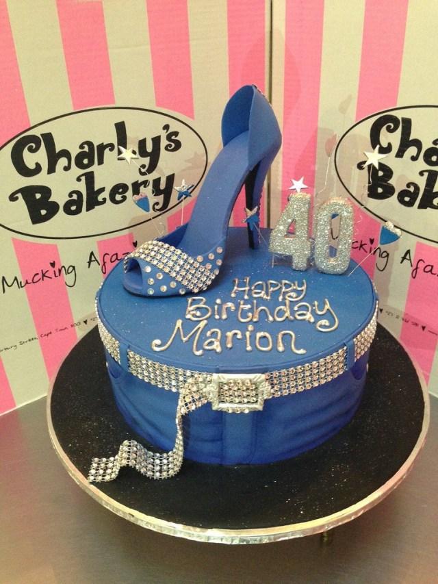 Bling Birthday Cakes Denim Diamonds Themed 40th Birthday Cake With Jeans Them Flickr