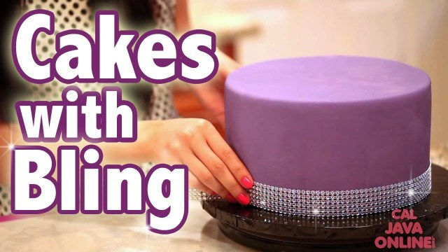 Bling Birthday Cakes How To Bling Out Your Cake With Glam Ribbons Cake Tutorials Youtube