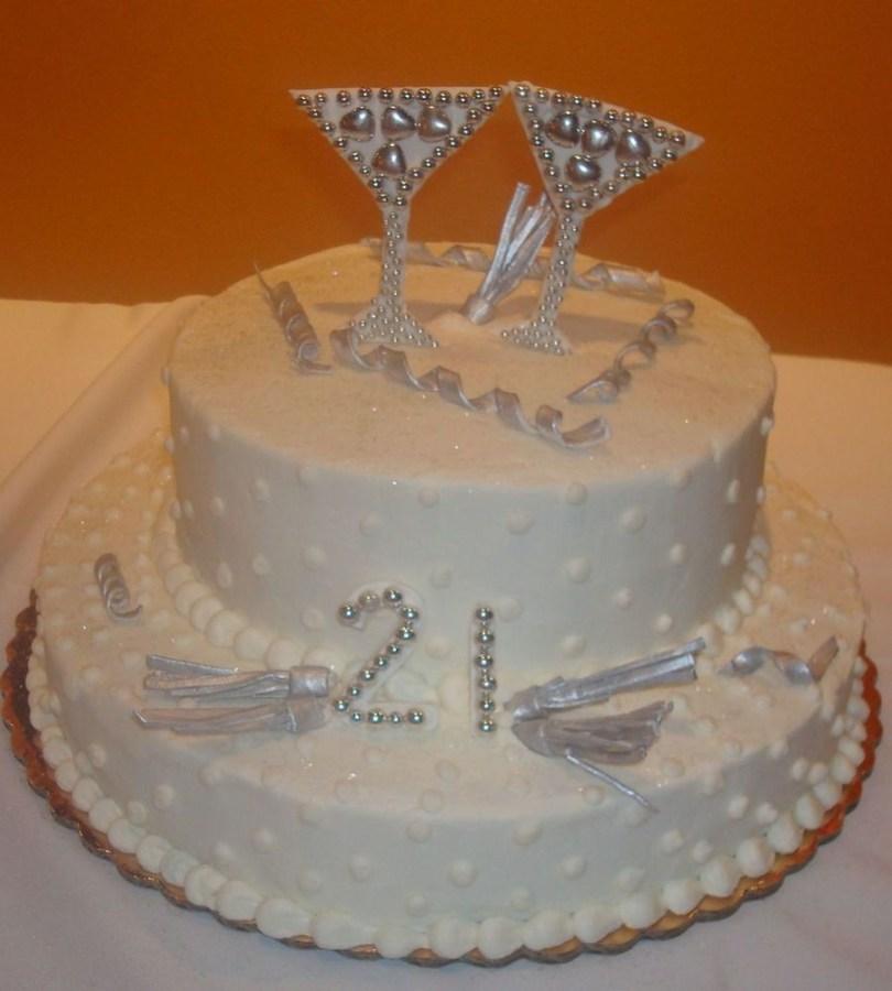 Bling Birthday Cakes Martini Bling Bling 21st Birthday Cake Cakecentral