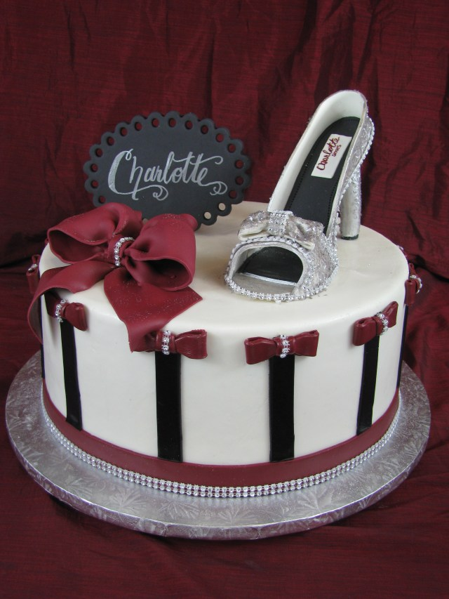 Bling Birthday Cakes Sexy Bling Shoe Mother Mousse