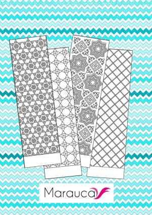 Bookmark Coloring Pages 4 Bookmarks Coloring Pages Printable Moroccan Mosaic Islamic Etsy