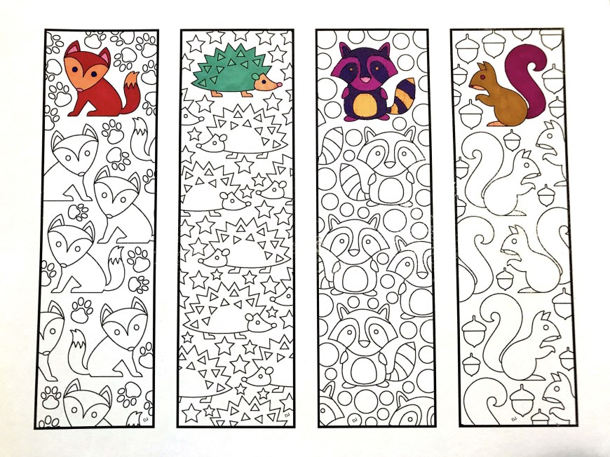 Bookmark Coloring Pages Cute Animal Bookmarks Coloring Pages With Cute Animal Bookmarks Pdf