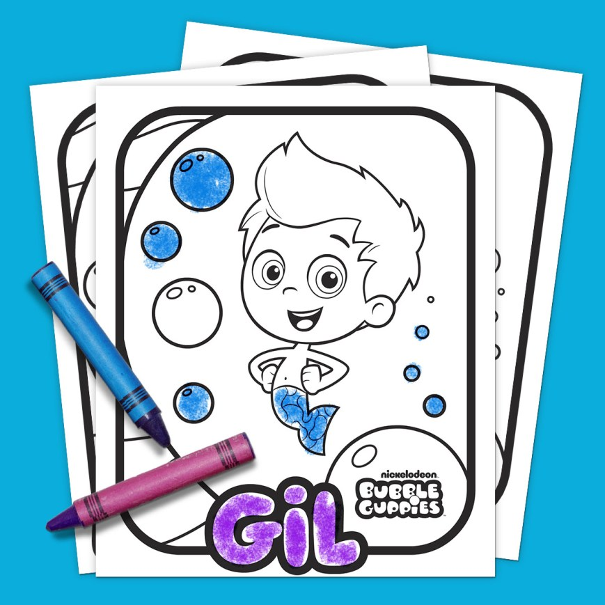 Bubble Guppies Coloring Pages Bubble Guppies Coloring Pack Nickelodeon Parents