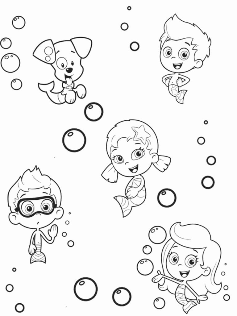 Bubble Guppies Coloring Pages Bubble Guppies Coloring Page New Bubble Puppy Coloring Pages Free