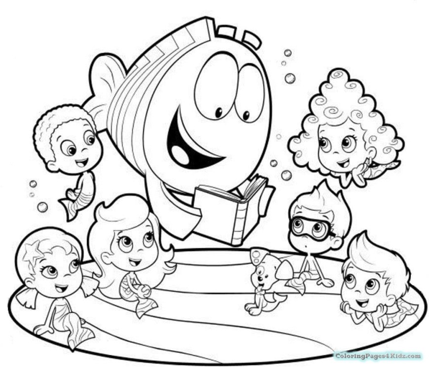 Bubble Guppies Coloring Pages Bubble Guppies Coloring Pages Dona Free Printable Coloring Pages