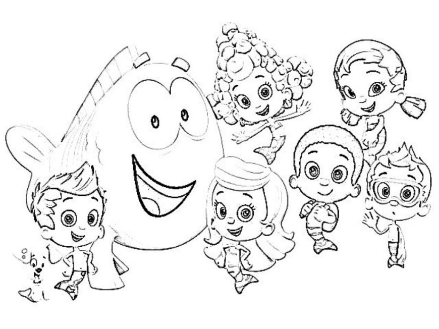 Bubble Guppies Coloring Pages Coloring Pages For Kids Bubble Guppies With Bubble Guppies Coloring
