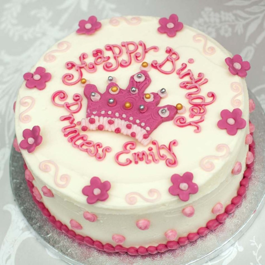Buttercream Birthday Cakes Princess Cakegirls Birthday Cakebuttercream Cakeedinburghglasgow