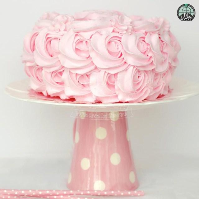 Buttercream Birthday Cakes Rose Swirl Buttercream Halal Birthday Cake Party Wholesale Singapore