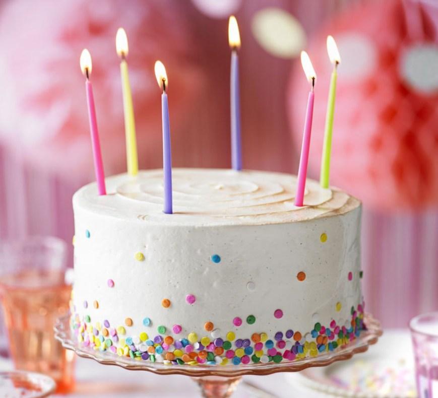 Buttercream Birthday Cakes Vanilla Party Cake Recipe Bbc Good Food