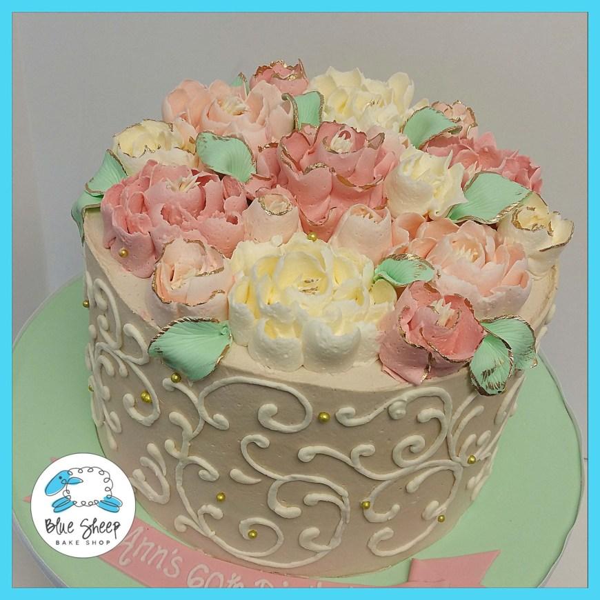 Buttercream Birthday Cakes Vintage Floral Buttercream Cake Desserts Pinterest Cake