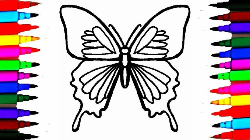 Butterflies Coloring Pages Colours For Kids Butterfly Coloring Pages L How To Draw Insects