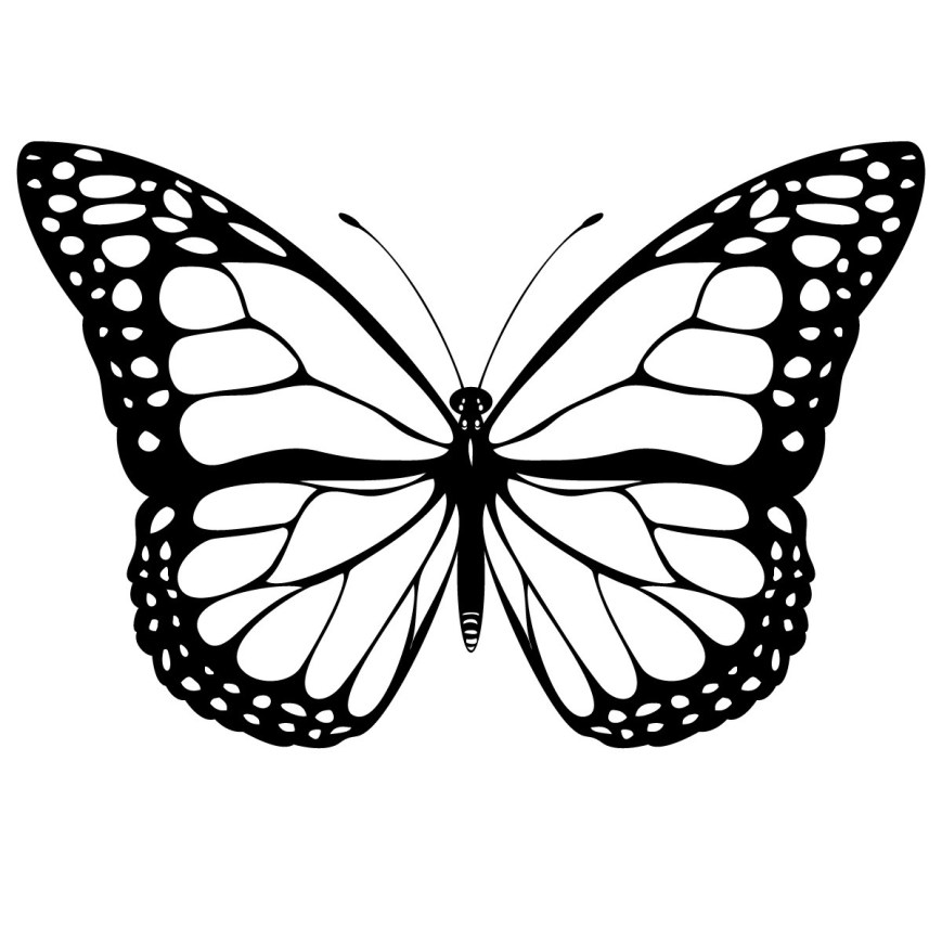 Butterflies Coloring Pages Free Printable Butterfly Coloring Pages For Kids