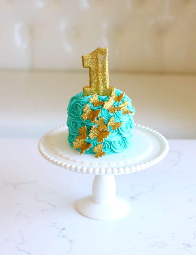 Butterfly Birthday Cake Rise Cupcakes Gold Butterfly Birthday Cake