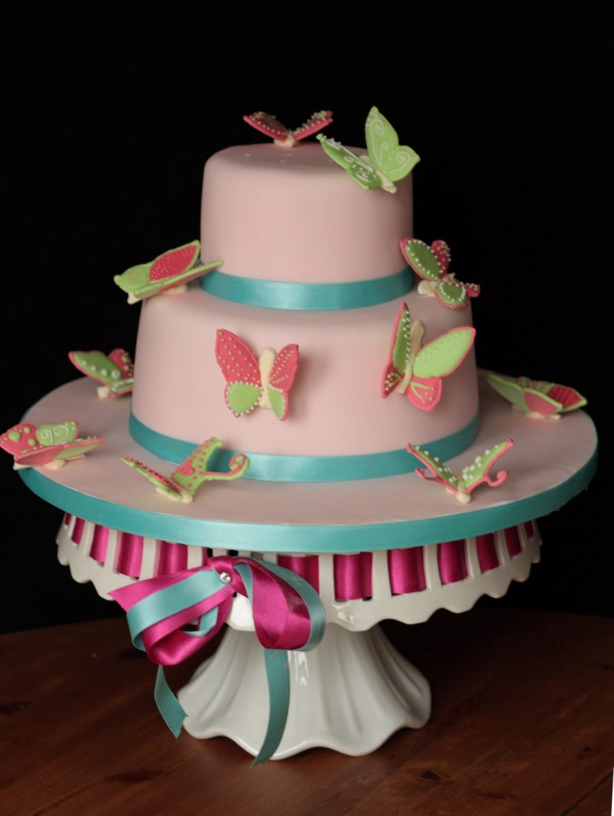 Butterfly Birthday Cake Vanilla Butterfly Birthday Cake