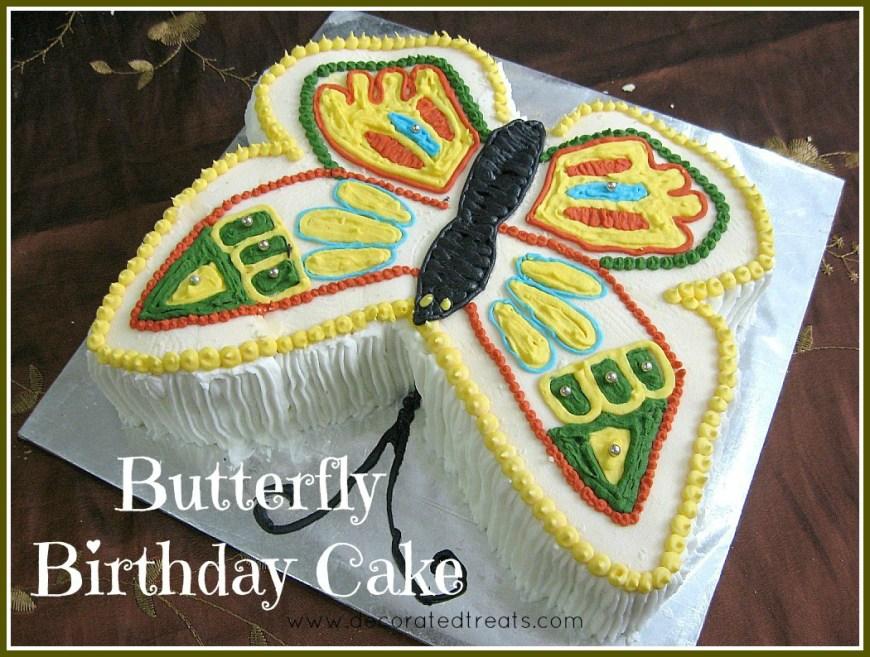 Butterfly Birthday Cakes Butterfly Birthday Cake