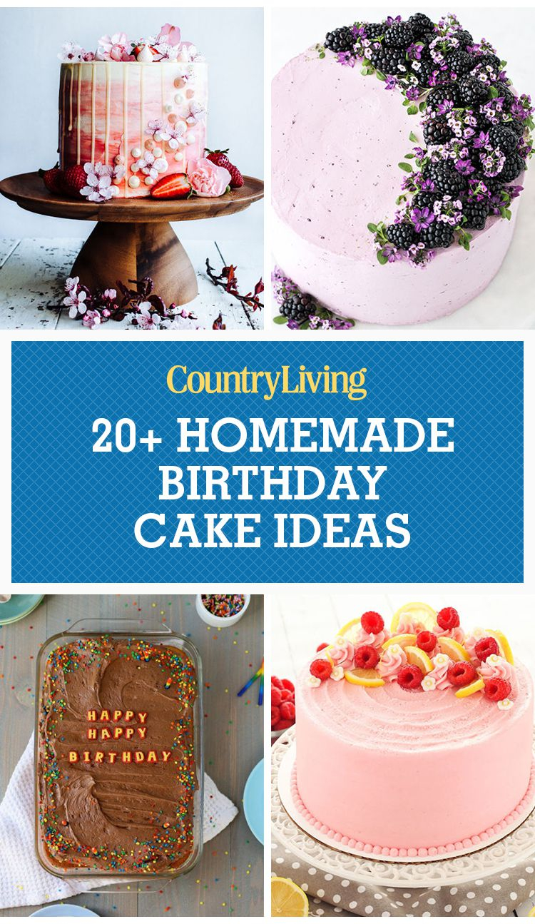 Cakes For Birthdays 24 Homemade Birthday Cake Ideas Easy Recipes For Birthday Cakes