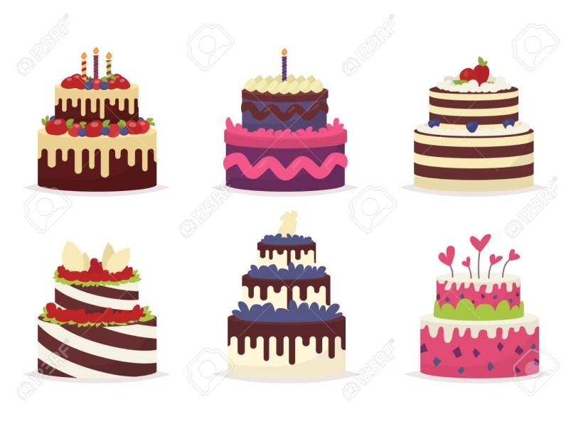 Cakes For Birthdays Set Of Beautiful Cakes For Birthdays Weddings Anniversaries