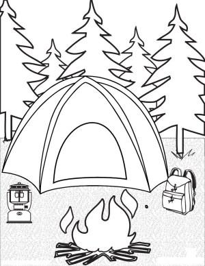 Camping Coloring Pages Camping Coloring Pages Camping Coloring Pages To Print Coloringstar