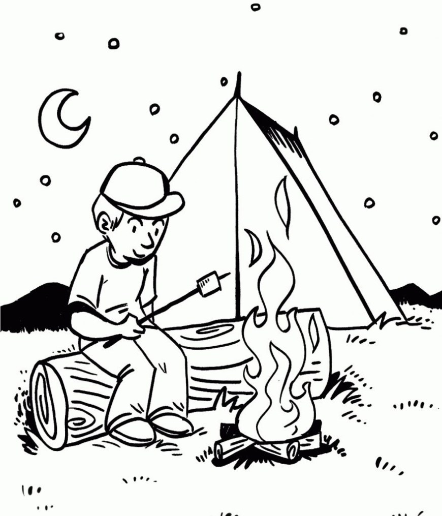 Camping Coloring Pages Free Printable Camping Coloring Pages Cool 15 Cool Camping Coloring