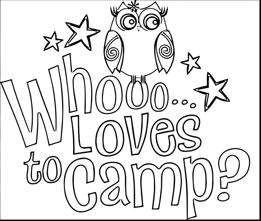 Camping Coloring Pages Full Camping Coloring Sheets New Free Cookie Pages Girl Scout Jar