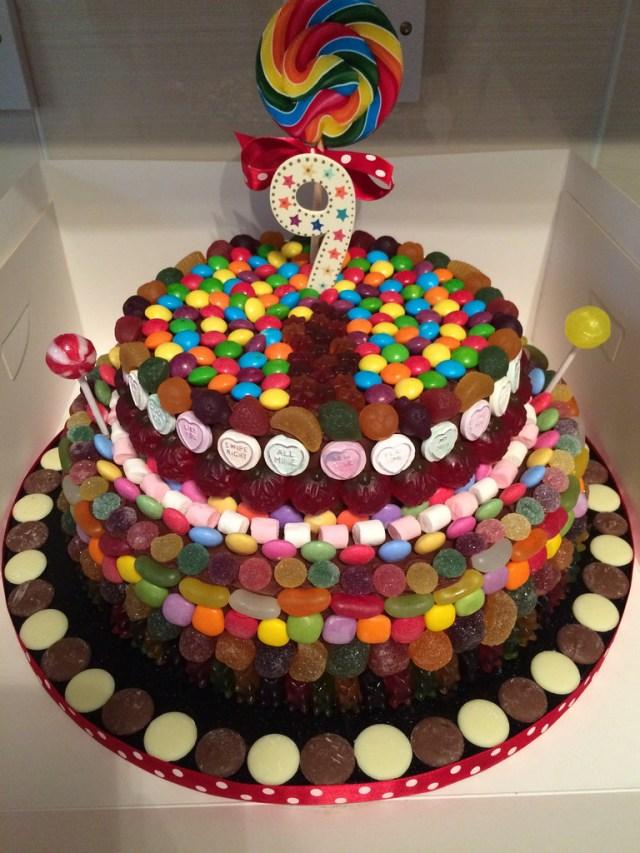 Candy Birthday Cake 2 Tier Candy Theme Chocolate Birthday Cake Pink Strawberry Cake