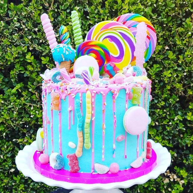 Candy Birthday Cake Pre Designed Cakes