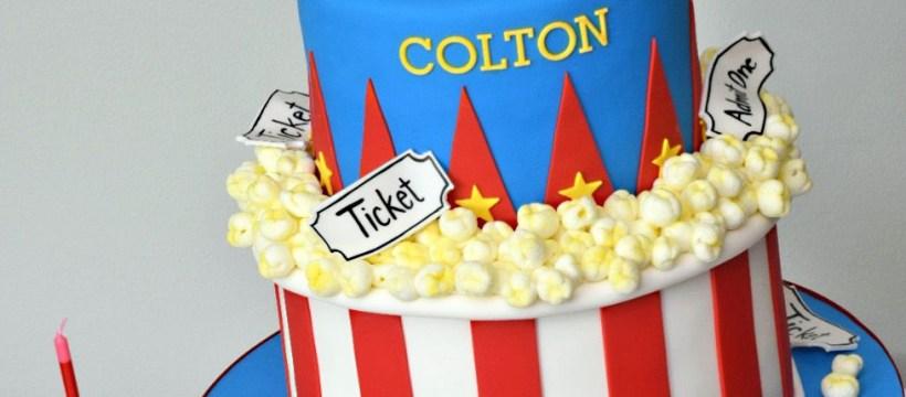 Carnival Birthday Cakes Carnival Theme With Popcorn K Noelle Cakes Cakes K Noelle