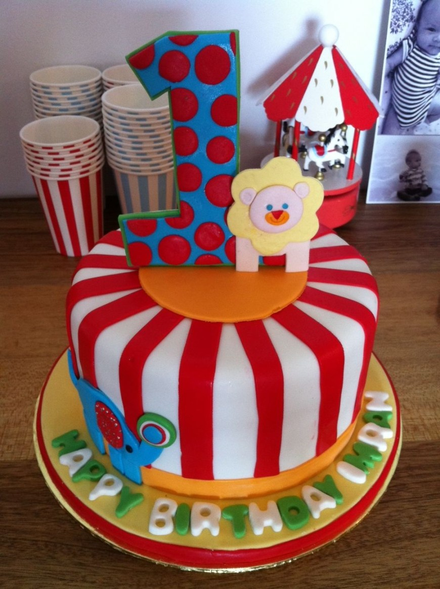 Carnival Birthday Cakes Carnival Themed First Birthday Cake Imrans First Birthday
