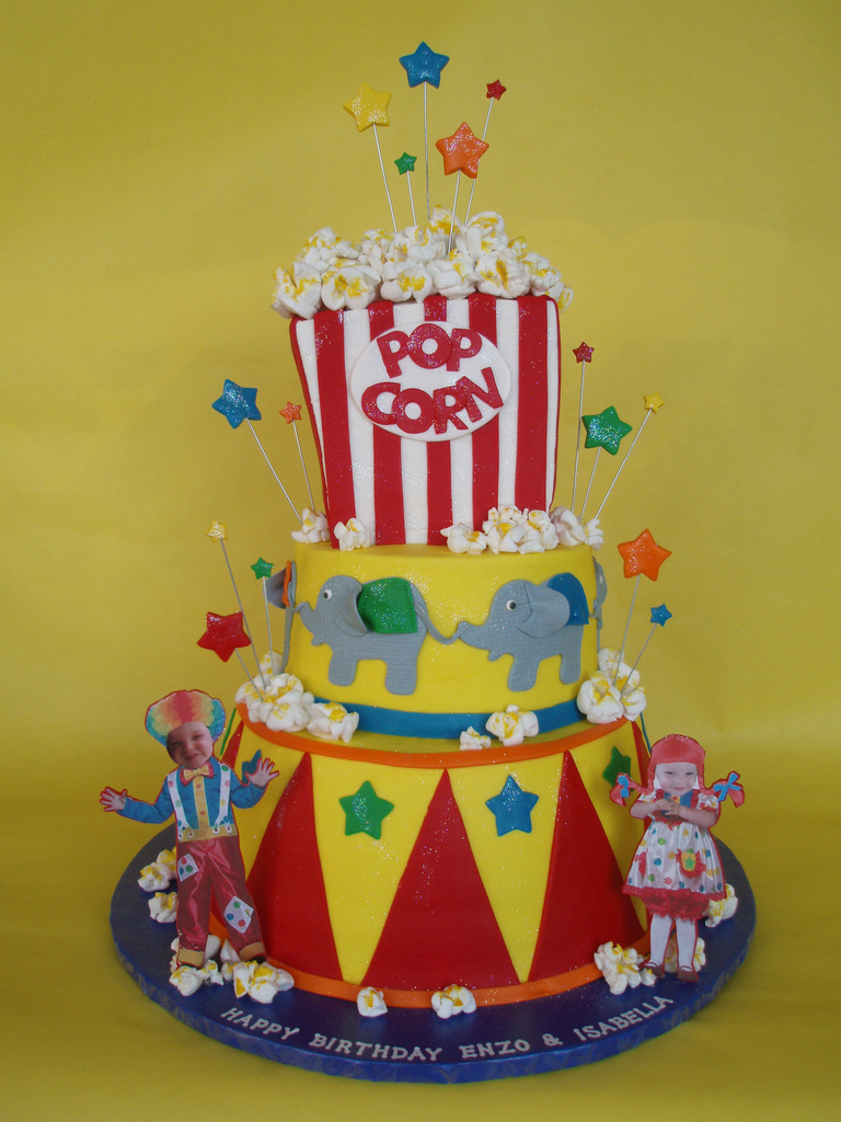 Carnival Birthday Cakes Circus Carnival Themed Birthday Cake Fashioned After A Cak Flickr