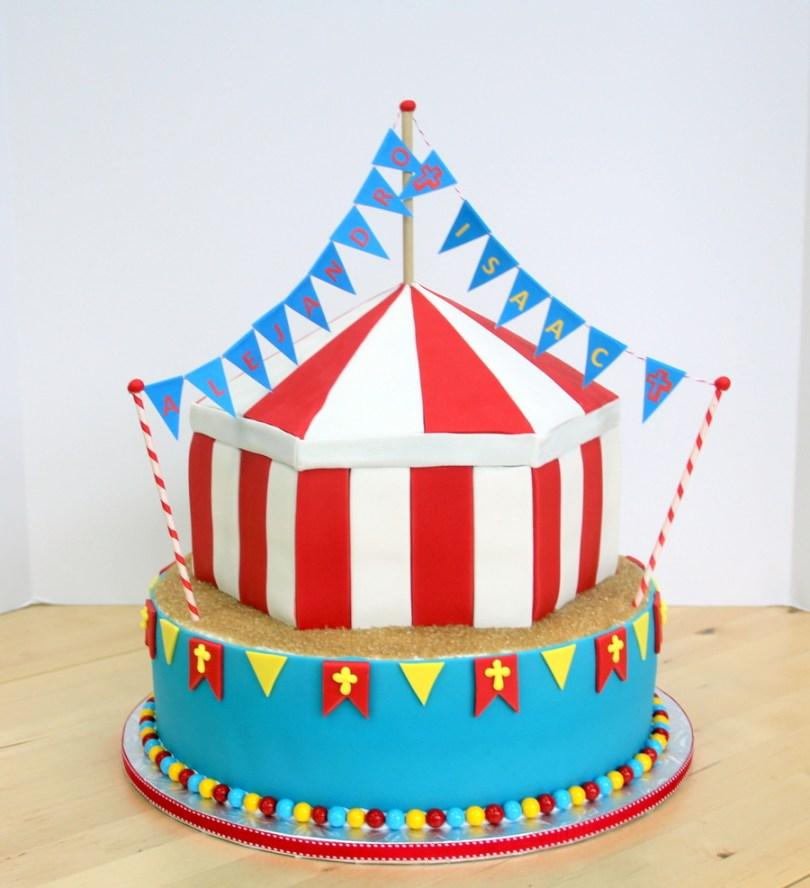 Carnival Birthday Cakes Circuscarnival Birthdaybaptism Cake Cakecentral