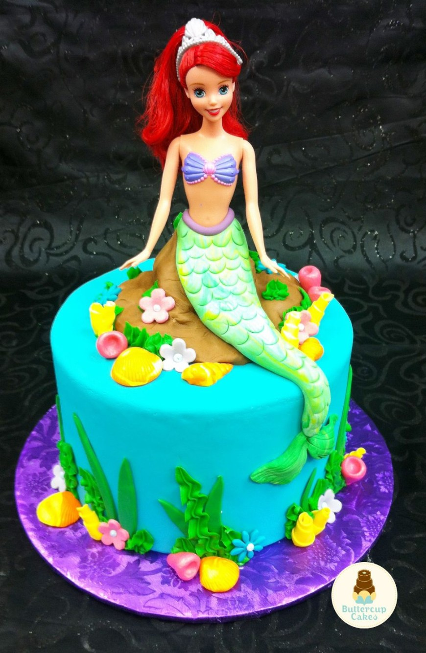 Cartoon Birthday Cake Little Mermaid Birthday Cake Cartoon Character Cakes Pinterest