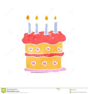 Cartoon Birthday Cake Retro Cartoon Birthday Cake Stock Vector Illustration Of Texture
