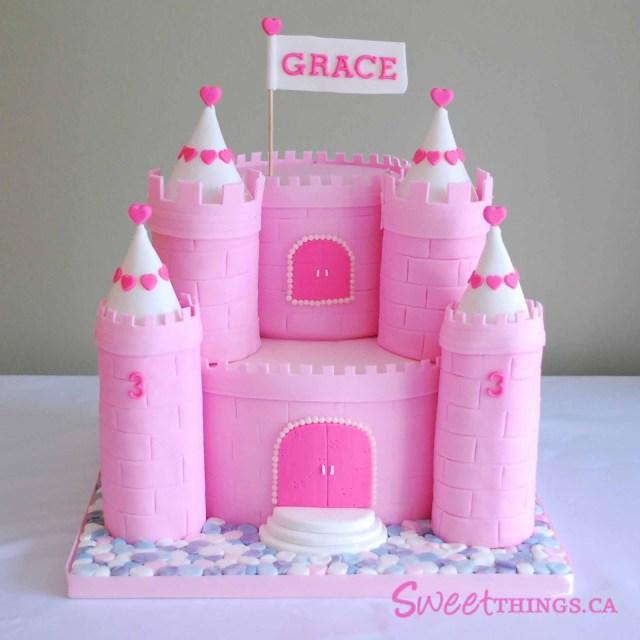 Castle Birthday Cake Castle Birthday Cakes For Girls 3rd Birthday Cake Pink Castle