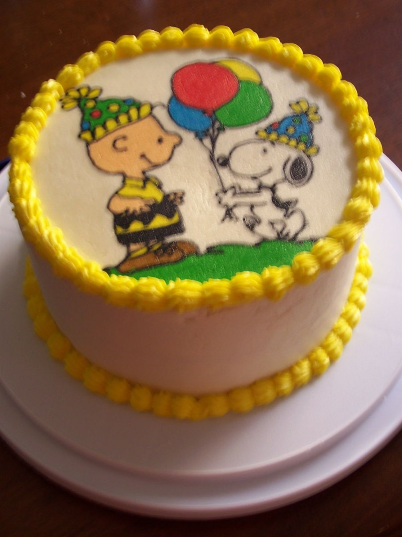 Charlie Brown Birthday Cake Charlie Brown And Snoopy Birthday Cake Cakecentral