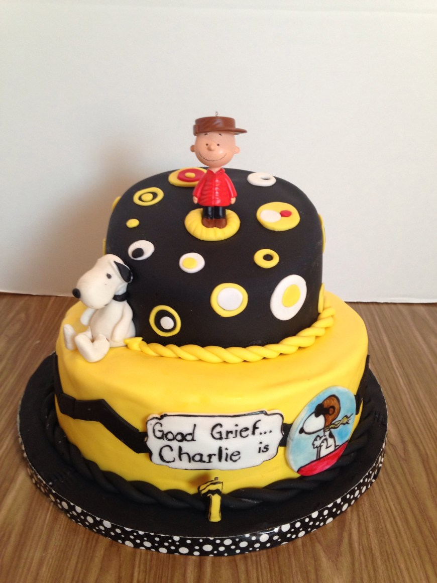 Charlie Brown Birthday Cake Charlie Brown Cake Httpswwwfacebooksherissinsationalsweets
