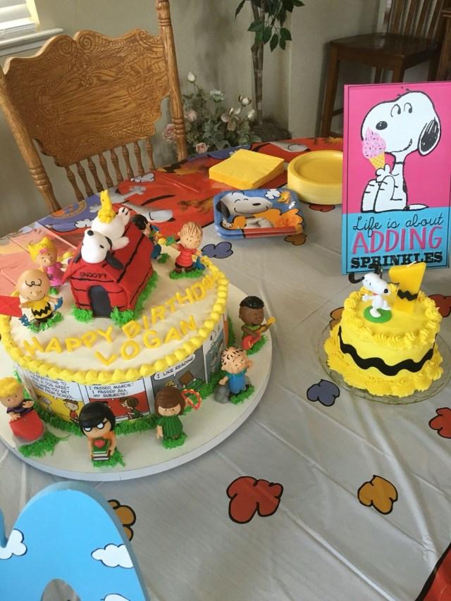 Charlie Brown Birthday Cake Charlie Brown Peanuts Birthday Cake For A First Birthday Smash
