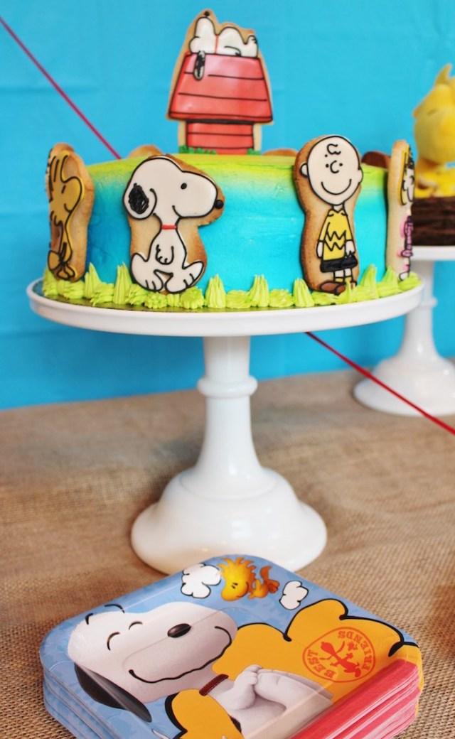 Charlie Brown Birthday Cake Karas Party Ideas Peanuts Charlie Brown Birthday Party Karas