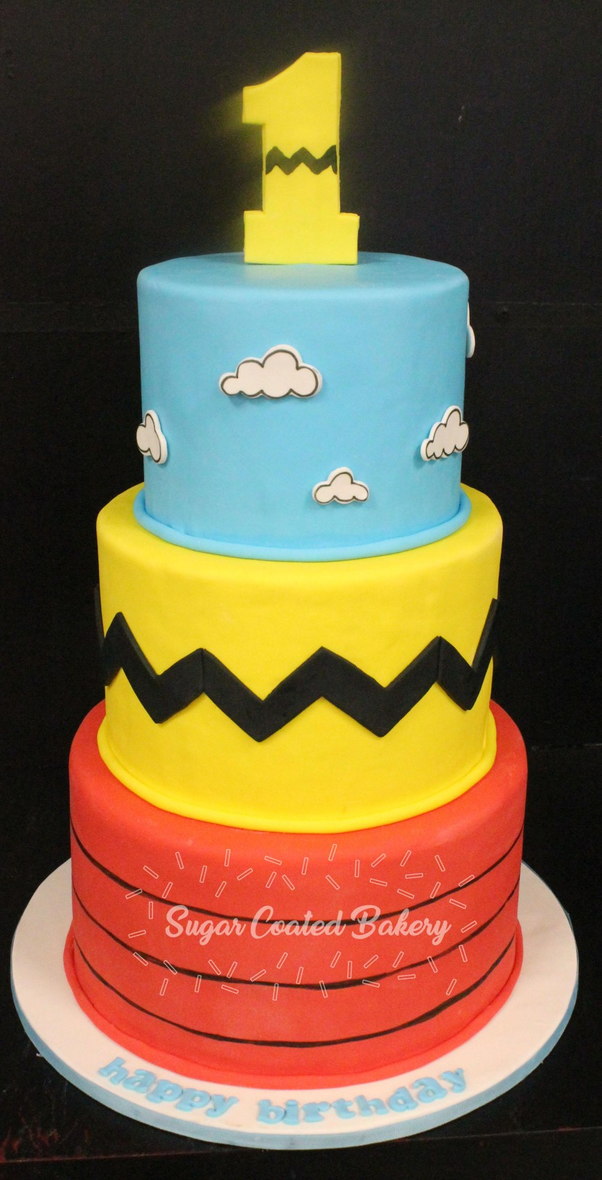 Charlie Brown Birthday Cake Sugar Coated Bakery Lowell Baking Everyday Better