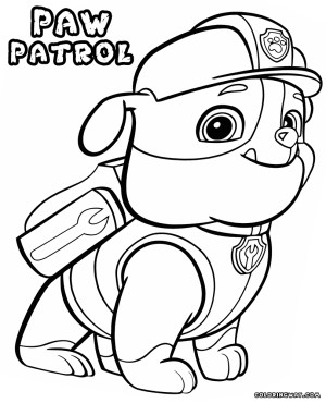 Chase Coloring Page Coloring Pages Paw Patrol Coloring Chase Pages At Getcolorings Com