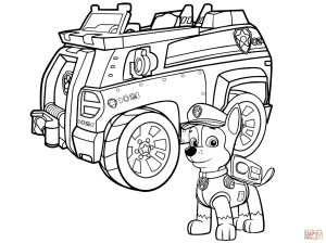 Chase Coloring Page Paw Patrol Chase Police Car Coloring Page Free Printable Coloring