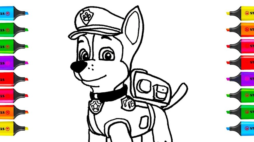 Chase Coloring Page Paw Patrol Coloring Pages Chase Coloring Pages For Kids